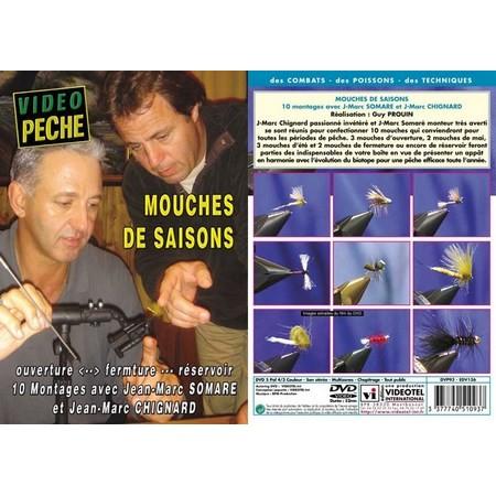 DVD - MOUCHES DE SAISON AVEC JEAN-MARC CHIGNARD ET JEAN-MARC SOMARE - PECHE A LA MOUCHE - VIDEO PECHE