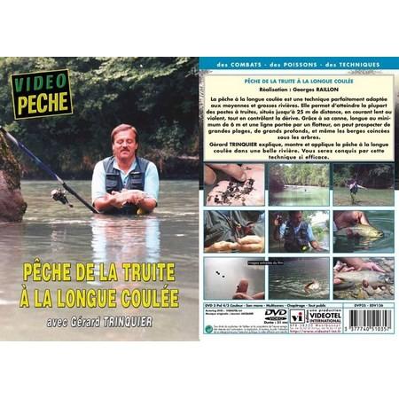 DVD - PÊCHE DE LA TRUITE À LA LONGUE COULÉE AVEC GÉRARD TRINQUIER - PÊCHE DE LA TRUITE - VIDÉO PÊCHE