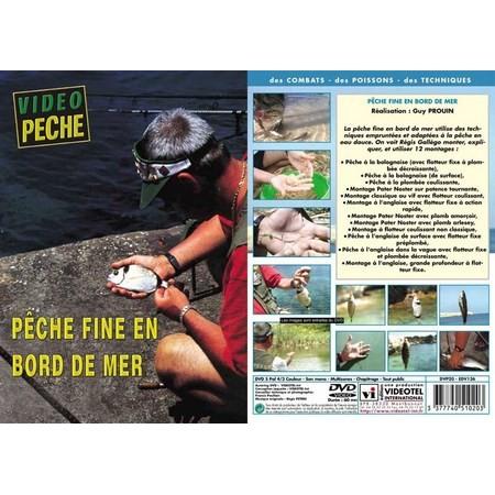 DVD - PECHE FINE EN BORD DE MER  - PECHE EN MER - VIDEO PECHE