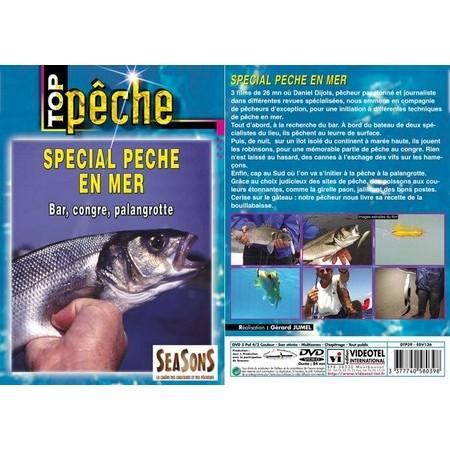 DVD - SPÉCIAL PÊCHE EN MER : BAR, CONGRE, PALANGROTTE  - PÊCHE EN MER - TOP PÊCHE