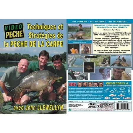 DVD - TECH. & STRAT. DE LA PÊCHE DE LA CARPE AVEC JOHN LLEWELLYN - PÊCHE DE LA CARPE - VIDÉO PÊCHE