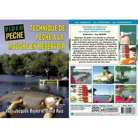 DVD - TECHNIQUE DE PECHE À LA MOUCHE EN RESERVOIR AVEC JACQUES BOYKO