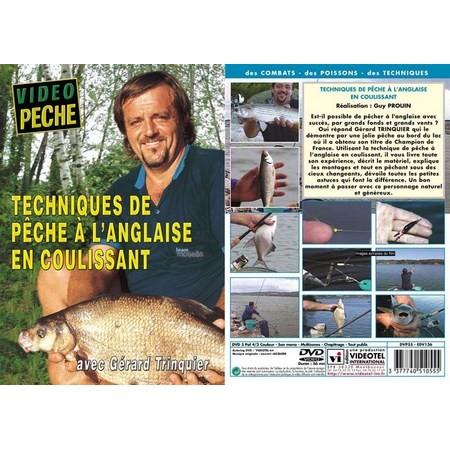 DVD - TECHNIQUES DE PECHE À L'ANGLAISE EN COULISSANT AVEC GERARD TRINQUIER - PECHE AU COUP - VIDEO PECHE