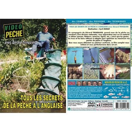 DVD - TOUS LES SECRETS DE LA PECHE À L'ANGLAISE AVEC GERARD TRINQUIER - PECHE AU COUP - VIDEO PECHE