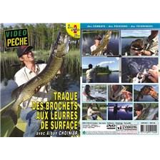 DVD - TRAQUE DES BROCHETS AUX LEURRES DE SURFACE  (2 DVD) AVEC ALBAN CHOINIER - PÊCHE DES CARNASSIERS - VIDÉO PÊCHE