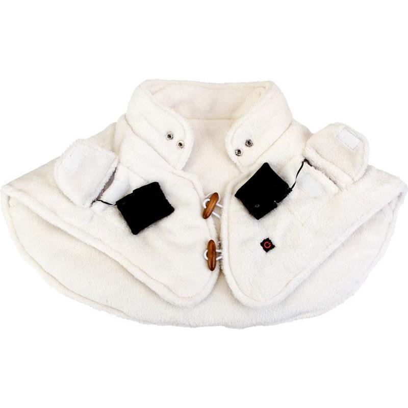 Echarpe chauffante homme thermo cape - blanc 45c6d350dcc