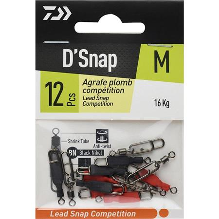 EMERILLON AGRAFE DAIWA D'SNAP PLOMB COMPETITION