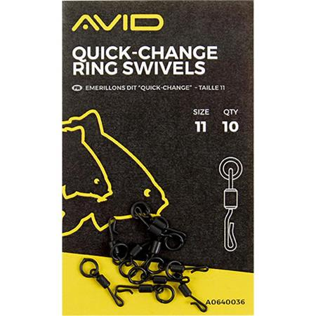 EMERILLON AVID CARP QUICK CHANGE RING SWIVELS