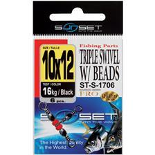 TRIPLE SWIVEL W / BEADS ST S 1706 N°10
