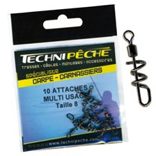 Tying Technipêche EMERILLON ATTACHE RAPIDE UNIVERSELLE EMERILLON TECHNIPECHE ATTACHE RAPIDE UNIVERSELLE N°8