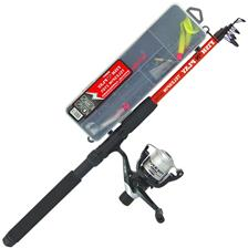 ENSEMBLE LANCER TELESCOPIQUE SERT KIT FISH 'N PLAY TELESPIN + 201RD + BOX