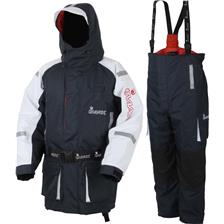 ENSEMBLE VESTE ET SALOPETTE HOMME IMAX COASTFLOAT FLOATATION SUIT - MARINE/BLANC