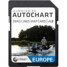 EUROPE MAP HUMMINBIRD ZERO LINE FOR AUTOCHART SOFTWARE