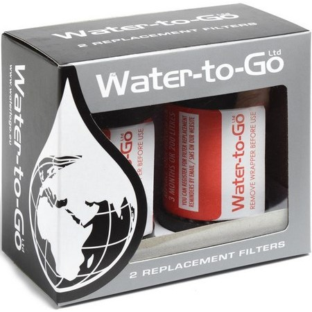 FILTER WATER-TO-GO FOR FLASK FILTRATION SYSTEM 0.75L - PACK OF 2