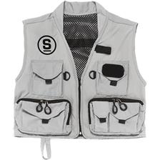 FISHING VEST SEMPE GREY MICROFIBRE