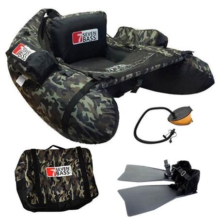 FLOAT TUBE PACK SEVEN BASS CAMOU FIRST