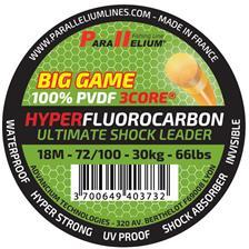 FLUOCARBON PARALLELIUM BIG GAME FC ABSORBER SHOCK LEADER 18M