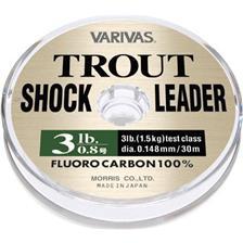 FLUOROCARBONE MER VARIVAS TROUT SHOCK LEADER - 30M -  30m - 3lb