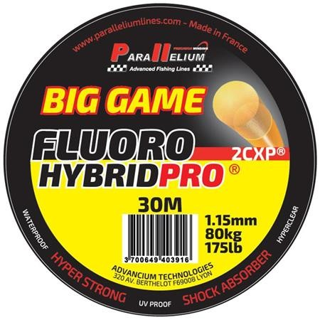 FLUOROCARBONE PARALLELIUM FLUOROHYBRID PRO BIG GAME LEADER - 30M