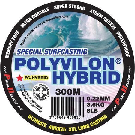 FLUOROCARBONE PARALLELIUM POLYVILON FLUORO HYBRID SURFCASTING BLEU 300M