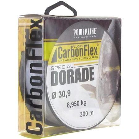 FLUOROCARBONE POWERLINE CARBONFLEX DORADE GRIS - 300M
