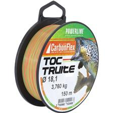 FLUOROCARBONE POWERLINE CARBONFLEX TOC TRUITE BICOLORE - 150M - 16.5/100