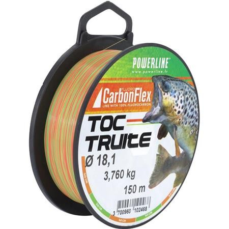 FLUOROCARBONE POWERLINE CARBONFLEX TOC TRUITE BICOLORE - 150M