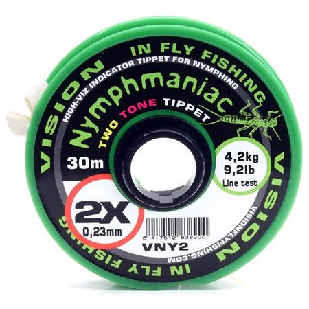 FLUOROCARBONE VISION NYMPHMANIAC TWO TONE TIPPET