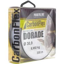 FLUOROCARBONO POWERLINE CARBONFLEX DORADE GRIS - 300M