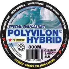 FLUROCARBON PARALLELIUM POLYVILON FLUORO HYBRID SURFCASTING BLUE 300M