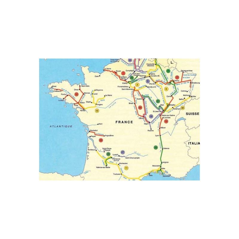 FRENCH WATERWAYS MAP PLASTIMO - World waterways map