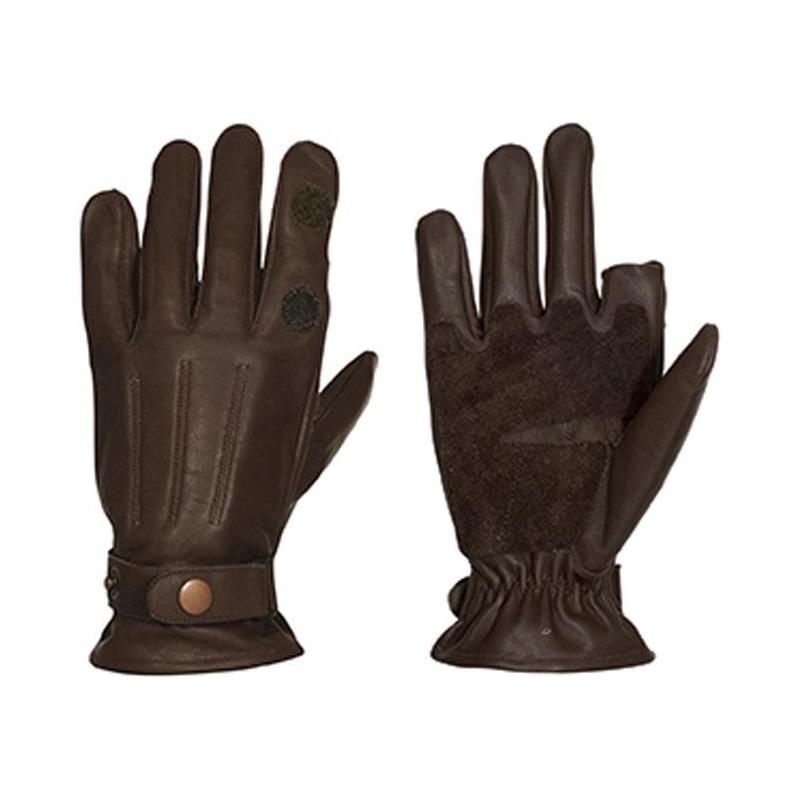 gants homme percussion grand froid cuir marron. Black Bedroom Furniture Sets. Home Design Ideas