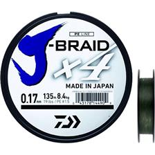 GEVLOCHTEN LIJN DAIWA J BRAID X4B - 450M