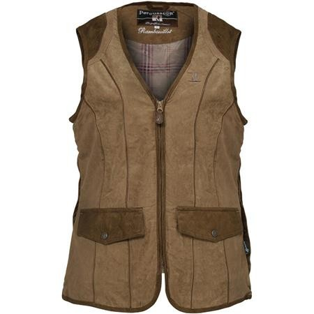 GILET CHASSE FEMME PERCUSSION RAMBOUILLET - BRONZE