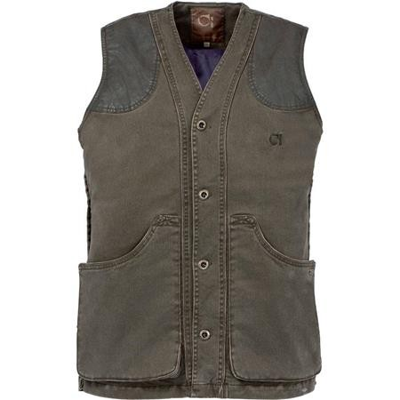 GILET CHASSE HOMME CLUB INTERCHASSE BRENNE - MARRON