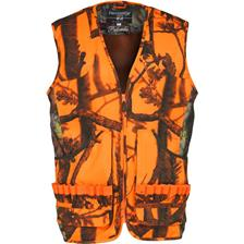 GILET CHASSE HOMME PERCUSSION PALOMBE - GHOST CAMO BLAZE BLACK