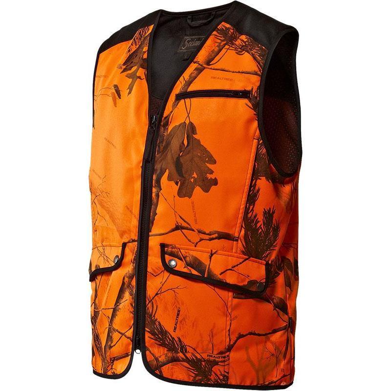 gilet chasse homme seeland visible orange. Black Bedroom Furniture Sets. Home Design Ideas