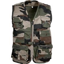 GILET CHASSE JUNIOR PERCUSSION REPORTER - CAMO