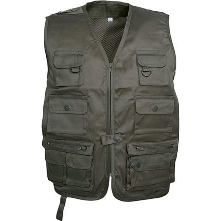 GILET CHASSE JUNIOR PERCUSSION REPORTER - KAKI