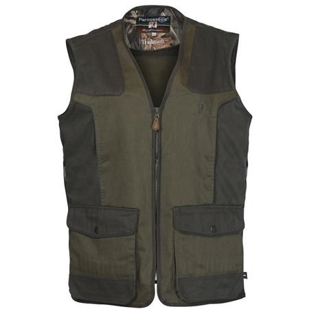 GILET CHASSE JUNIOR PERCUSSION TRADITION - KAKI