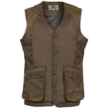 GILET CHASSE PERCUSSION SOLOGNE - MARRON
