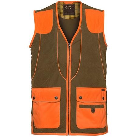 GILET HOMME CLUB INTERCHASSE CEVRUS - TABAC/ORANGE