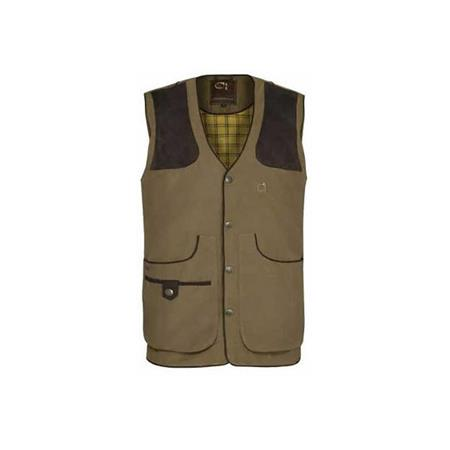 GILET HOMME CLUB INTERCHASSE CEVRUS - TABAC