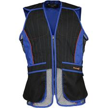 GILET HOMME PERCUSSION BALL TRAP EVO - NOIR/BLEU