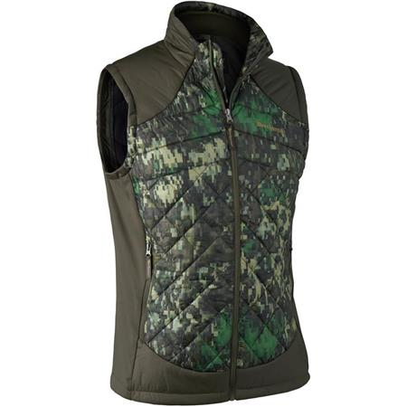 GILET SANS MANCHES HOMME DEERHUNTER CUMBERLAND QUILTED WAISTCOAT - EQ CAMOUFLAGE