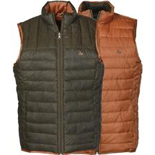 GILET SANS MANCHES HOMME LIGNE VERNEY-CARRON WEEK END REVERSIBLE - MARRON/ROUILLE