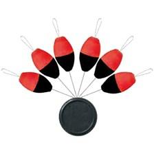 X TREND BLISTER FLOAT OVALE FLUO ORANGE/BLACK N°0 O 5MM X 10MM