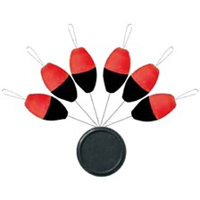 GUIDE FIL SERT X-TREND BLISTER FLOAT OVALE FLUO ORANGE/BLACK - PAR 6