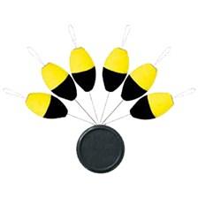 GUIDE FIL SERT X-TREND BLISTER FLOAT OVALE FLUO YELLOW/BLACK - PAR 6