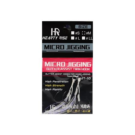 HAMECON ASSIST HOOK HEARTY RISE MICRO JIGGING MJA-10 - PAR 2